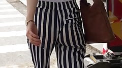SsW - S2016E09 - Tight teen with jiggly ass in striped pants