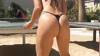Hot Armenian Girl Playing With A Ball Big Sexy Ass Booty