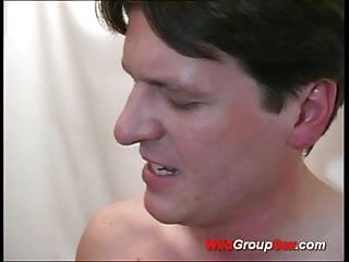 Hard tranny group - Wild group sex big boobs babe gets gang banged hard