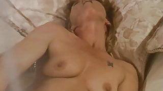 Big Hair Housewife MILF Dildo Masturbation  Session