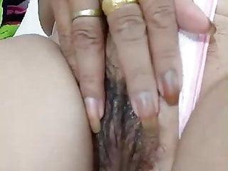 Thai wet pussy - Thai grandma masturbate her wet and hairy pussy 2