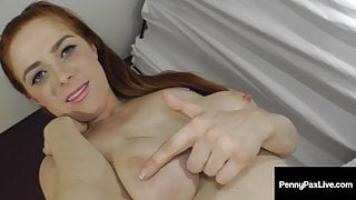 Petite Pussy Fiend Penny Pax Fingers Bangs Her Hairy Coochie