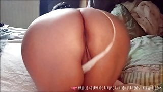 Vends-ta-culotte - French MILF Ass Exhibition from her Bed