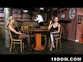 Sex slave teen pics - A poor barman becomes a sex slave of 2 young dominatrices