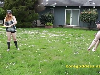 Bbw lesbians saggy tits - Massive tits lesbian gets a baseball bat deep in her pussy