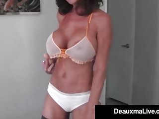 Hot cougar sex videos - Hot cougar deauxma dildo fucks her pussy squirts