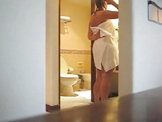 Sample clip woman orgasm Beatuy woman with hot body in bathroom-spy cam clip