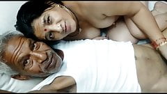 Mom and Grandpa fully enjoy fucking, desi love