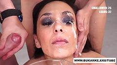 Ashley Ocean Cum bath from Multiple Dicks - bukkake.xxx