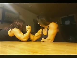 Women with sexy muscular arms - Strong arm domination