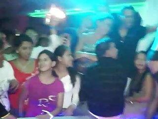 Clubbing bikini - Latian stripper in disco club.