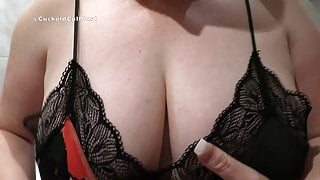 Hotwife Rachel Plays with Her Big Milf Boobs & Big Dildo