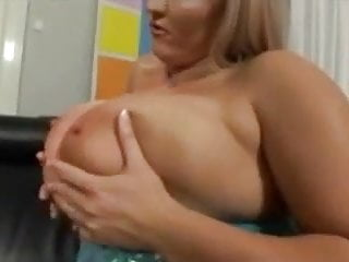 Mature melons cum - Blonde with huge melons.