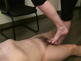 Cystoscopy fetish stirrup position Several positions footjob