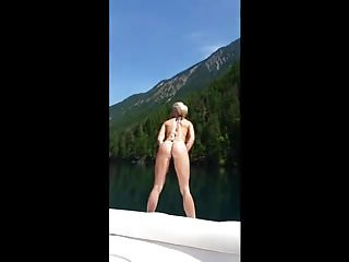 Boat bikini top end pieces Hot body blonde fucked on lake boat