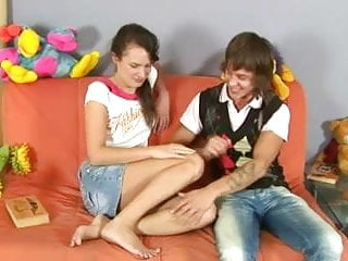 First time handjob by girlfriend Cute russian teen girlfriend olga first time anal