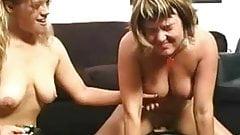 Lesbian Sybian Fun