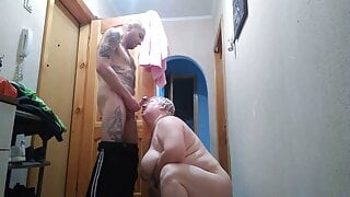 doggystyle sex and blowjob for a package