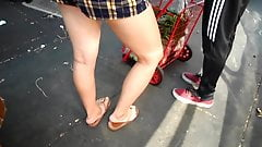 BootyCruise: Chinatown Bus Stop Asian Leggy Honey