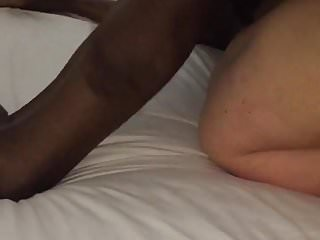 Bare back bisexual creampie 03 Black guy stretching my wife pussy bare back