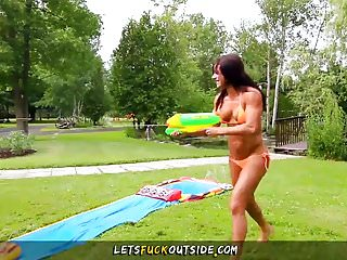 Bikini fishing the game - Lets fuck outside - scissoring lesbians wet outdoor games