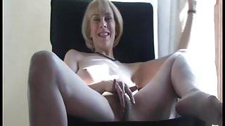 Hazel strips and cums hard