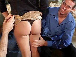 Sexy milfs swap husbands Big black guy plows sexy blonde on couch in front of her husband