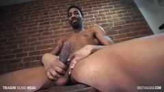 PJ rubs his nice big cock