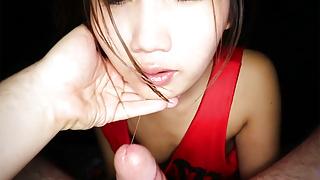 Teenage Thai amateur massage girl rimjob blowjob and doggy