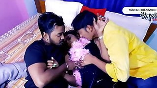 One Hot Girl with Two lucky Guy (Desi Threesome)