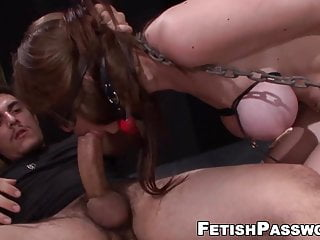Hardcore fucking no mercy Gagged sub bitch hammered and face fucked with no mercy