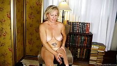 Super cute cougar talks dirty & fucks her soaking wet pussy