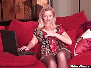 Big tits old milf 46 year old milf masturbates in soaked panties