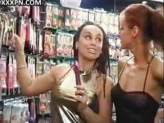 Houston in sex shop texas toy - Lesbian hotty gets toy fucked in sex shop.