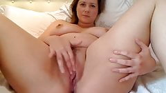 cute woman with big tits solo
