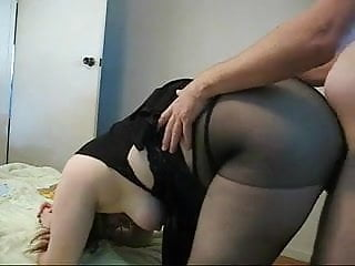 Chubby girls in nylons Chubby milf in nylons fucks doggystyle