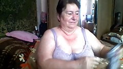fat granny playing on skype