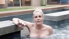 Chelsea Handler in hot tub