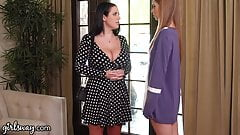 Girlsway Angela White Lets Lesbian Robot Maid Go Down on Her