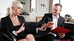 Horny Boss Ian Scott Pounds Busty Christina Shine