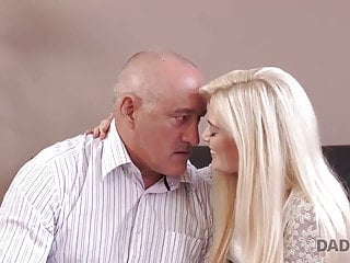 Teen and father Daddy4k. massage then old and young sex makes gf and father
