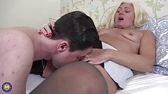 Hairy mom gets anal sex from son
