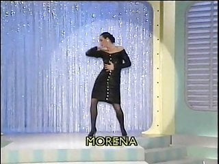 Vintage tv stand Morena - colpo grosso striptease. italian tv show
