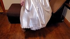 Satin wedding dress & petticoat