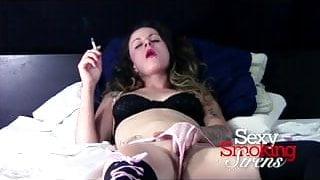 Smoking Fetish - Raleigh Hart Pink Panties Masturbation