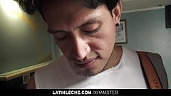 LatinLeche - Cute Latino Stud Is Convinced To Suck Uncut Coc