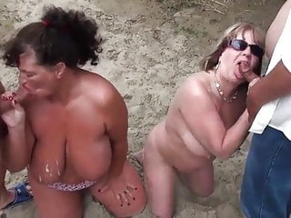 Cumdump sluts 2 mature nudist wives used as cumdump seadsluts