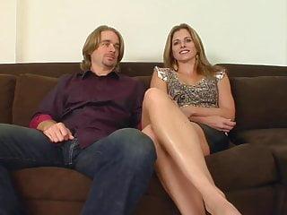 Sexy blonde milf rides cock Sexy tanned milf rides hard
