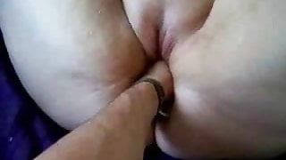 Fisting Her #1 BBW Squirts, Tied to the Bed