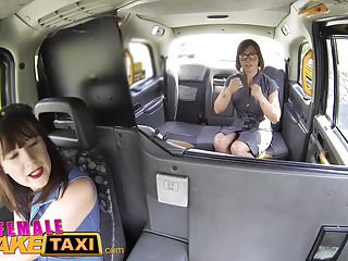 Xbxx lesbian car video - Female fake taxi double dildo multiple orgasms strap on sex
